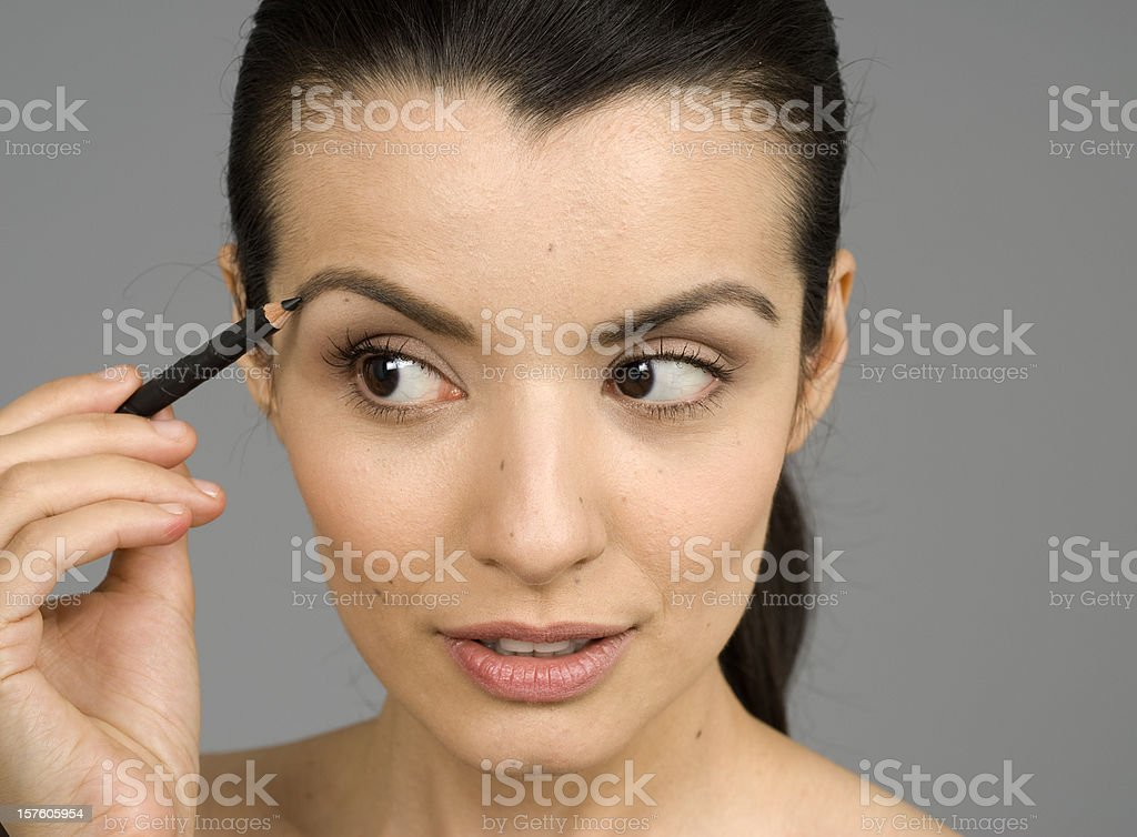 Image result for female model using eye brow pencil