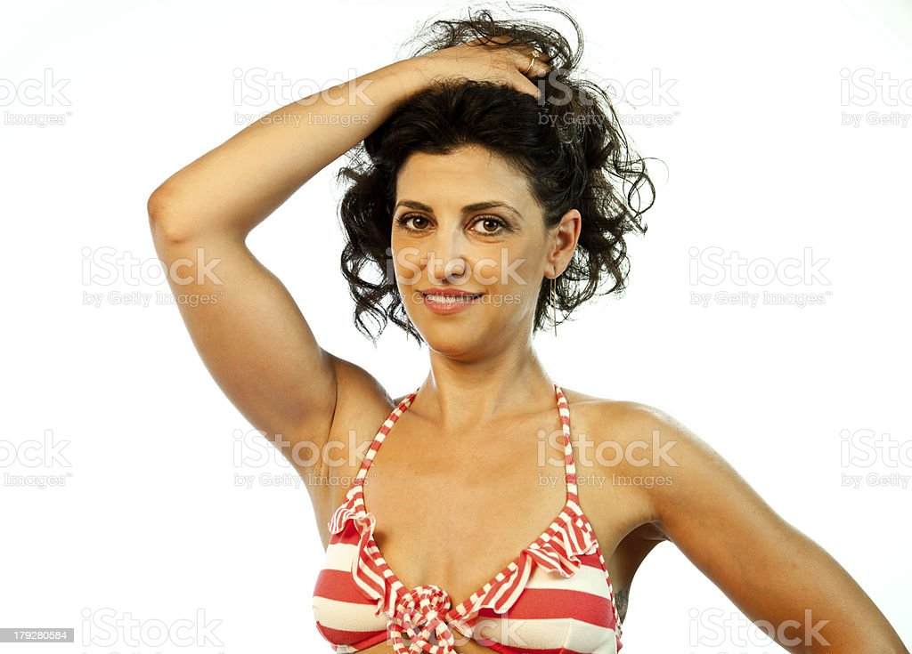 Model With Hair Up royalty-free stock photo