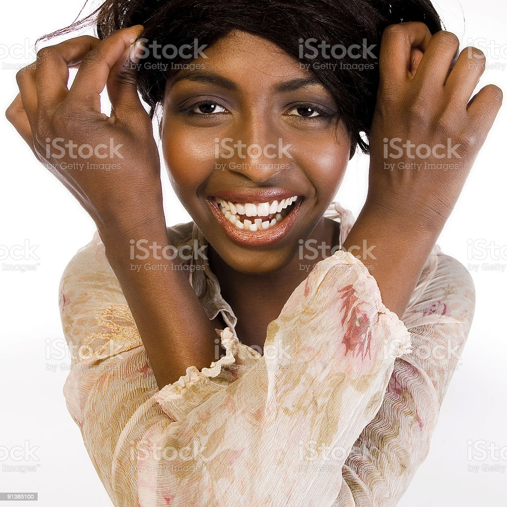 Model with Happiness royalty-free stock photo