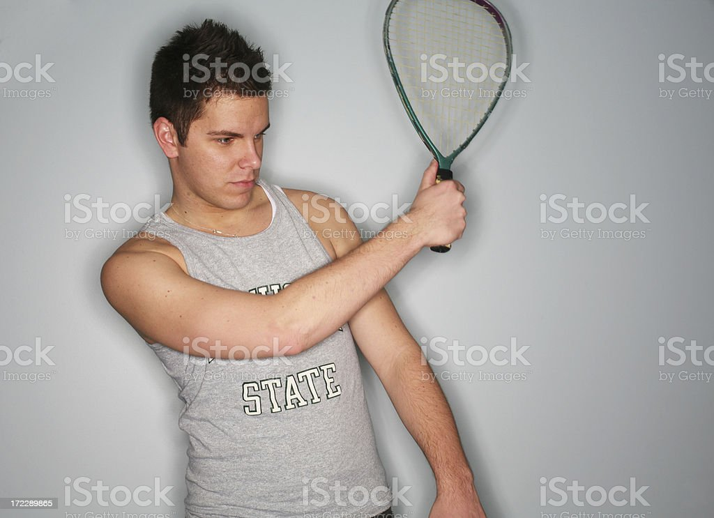 Model with Racquetball Racquet royalty-free stock photo