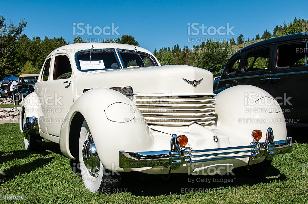 Model year 1937 Cord 812 Beverly stock photo