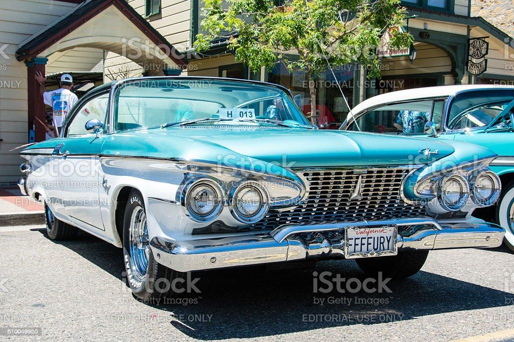 Model Year 1961 Plymouth Fury stock photo