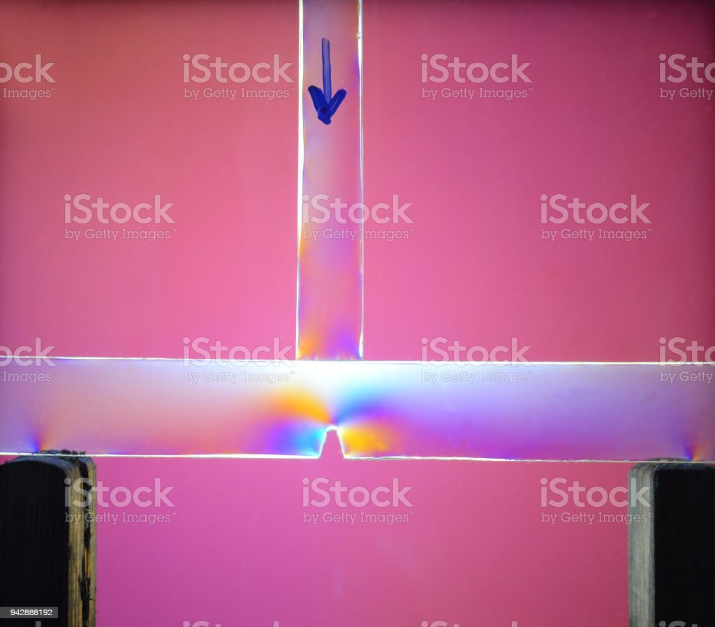 Modeldemonstration of statics stock photo