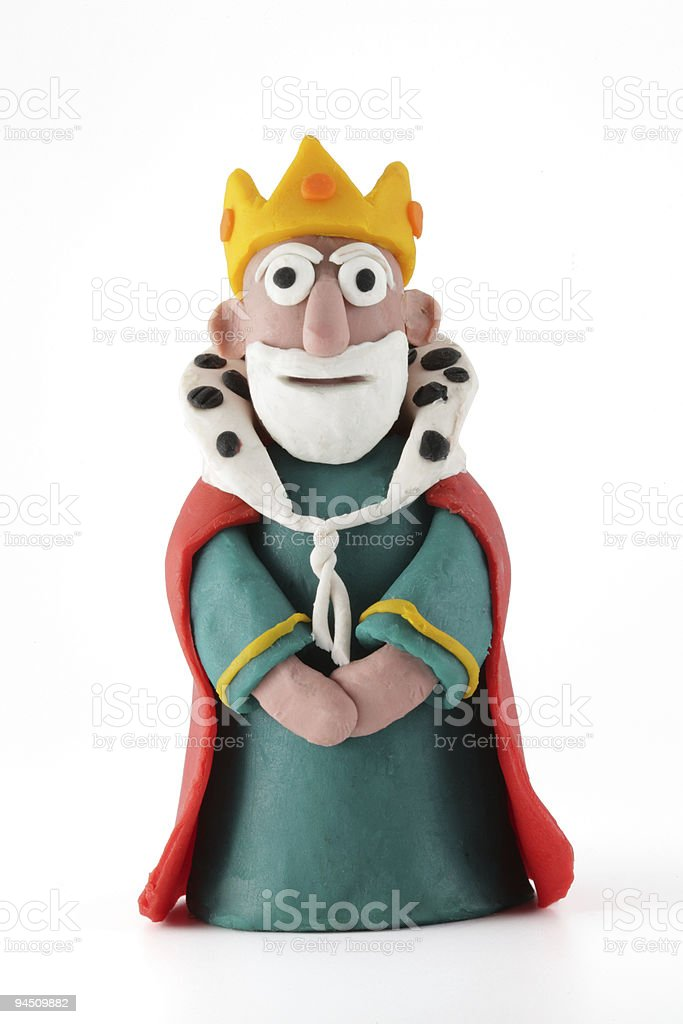modeling clay figure, king stock photo