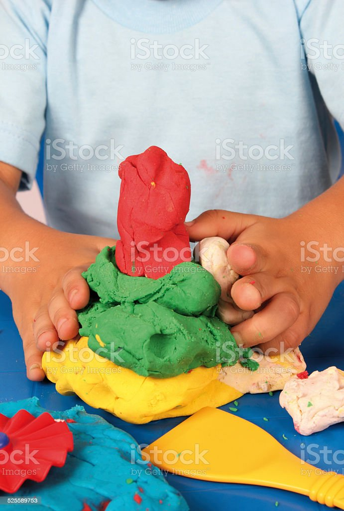 modeling clay stock photo