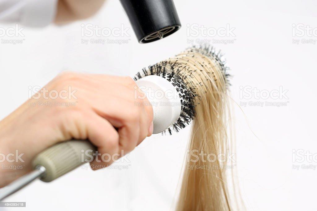 Modeling hair brush stock photo