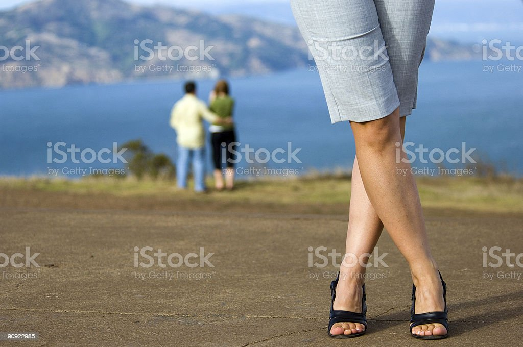 Modeling shoes stock photo