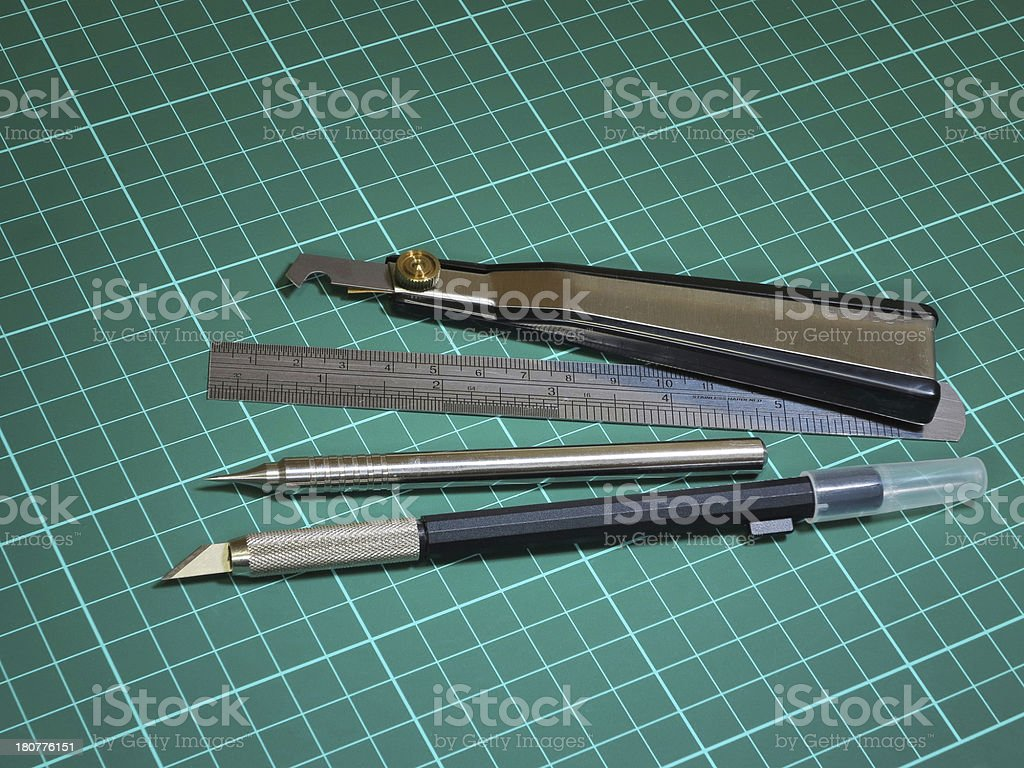Modeling tools stock photo