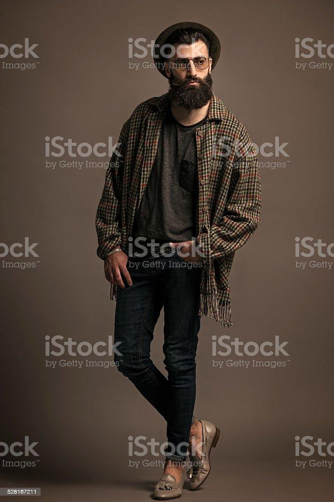 modelo barba stock photo