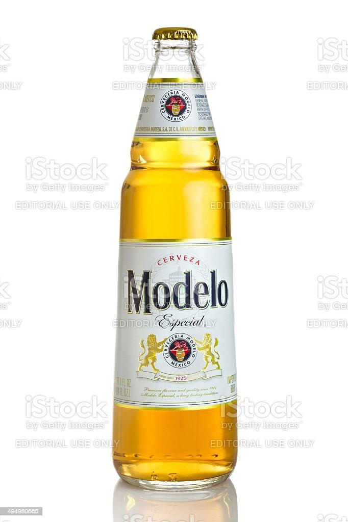 Modelo Especial Beer royalty-free stock photo