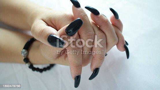 Models hands - nails done