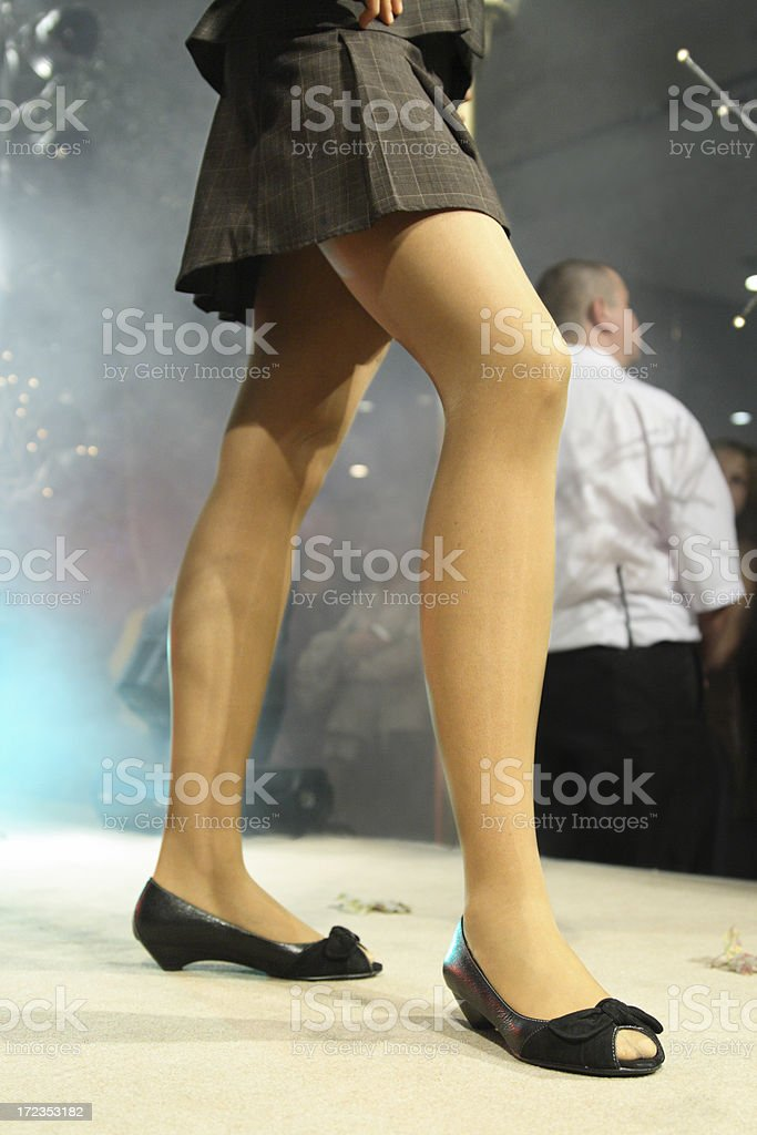 Model's legs. royalty-free stock photo