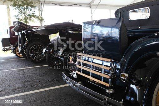 Kissimee, Florida, USA.   January  19, 2014.     Meccum Auto Auction of classic cars.