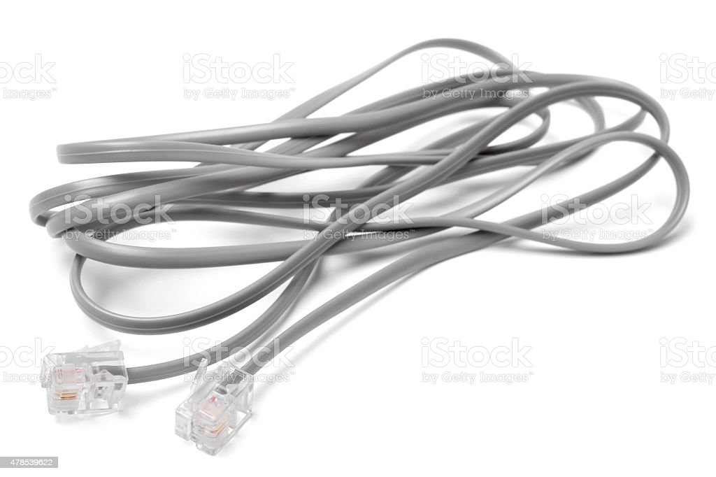 Modem cable stock photo