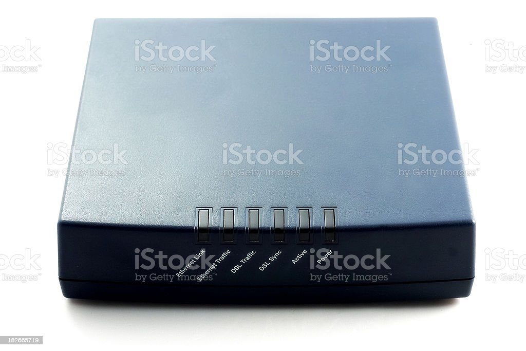 modem front royalty-free stock photo