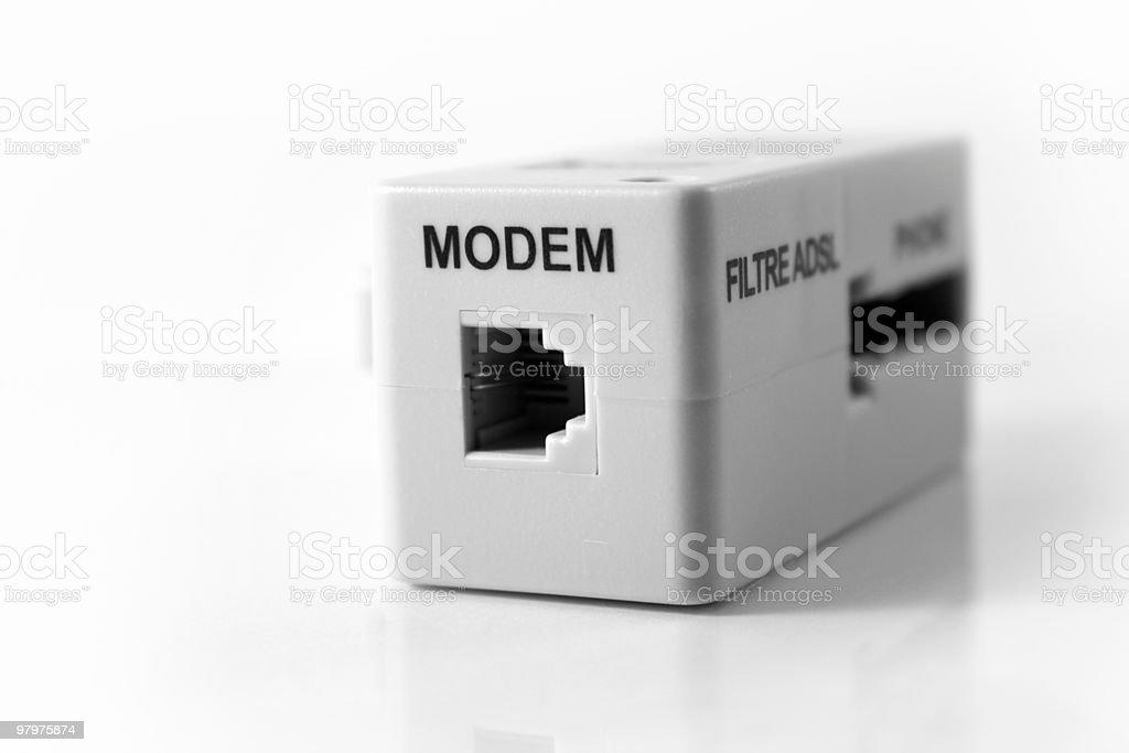 Modem socket royalty-free stock photo