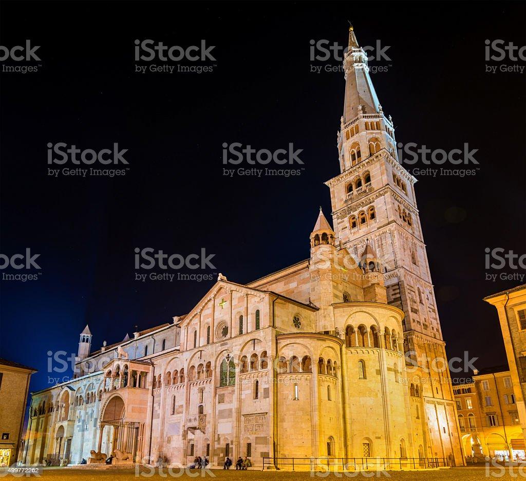 Modena Cathedral, a Roman Catholic Romanesque church stock photo
