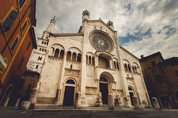 modena cathedreal - rose window stock pictures, royalty-free photos & images