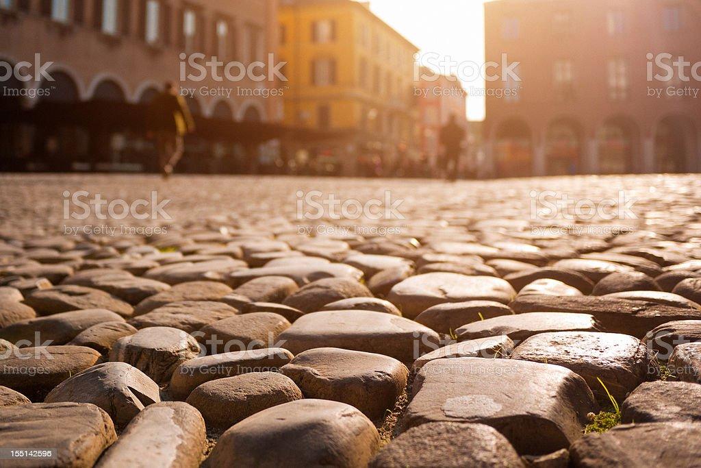 Modena, Italian City at sunset stock photo