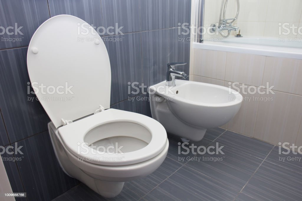 Moder luxury bathroom stock photo