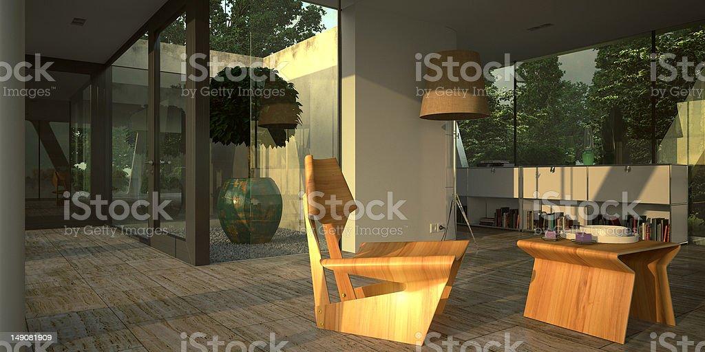 Moderfn minimalist interior stock photo