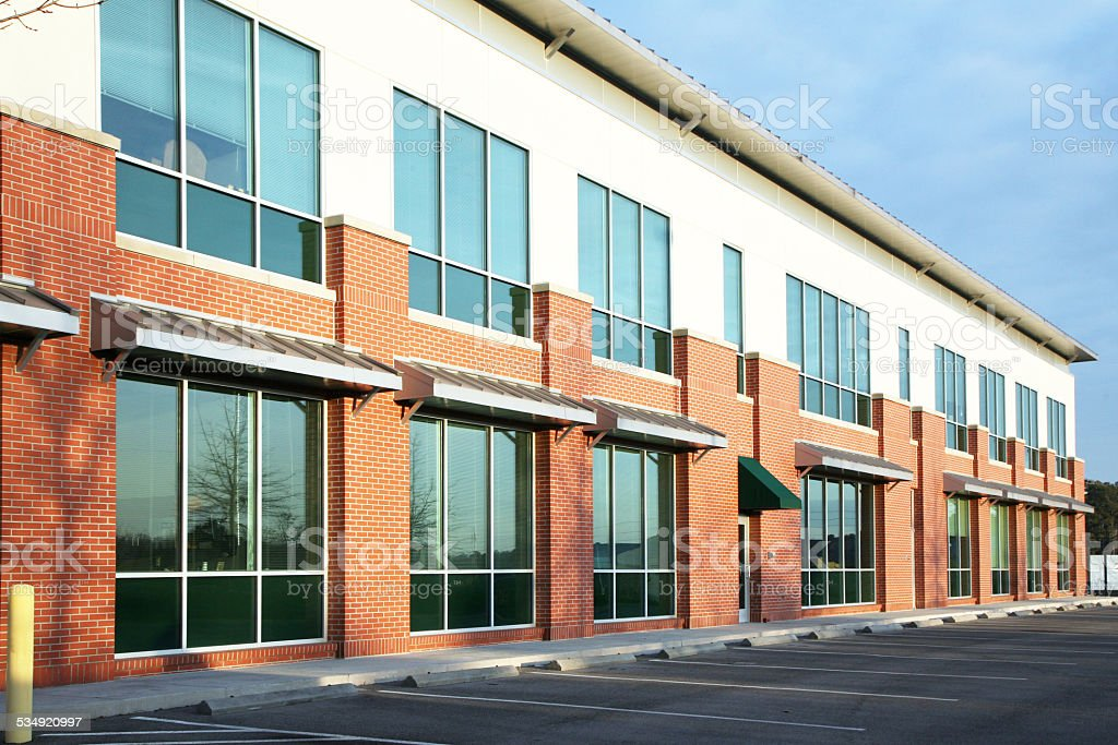Modern, 2 story office building stock photo
