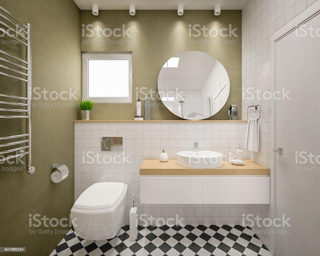 Moderne 9d Bad Rendern Stockfoto und mehr Bilder von Altertümlich