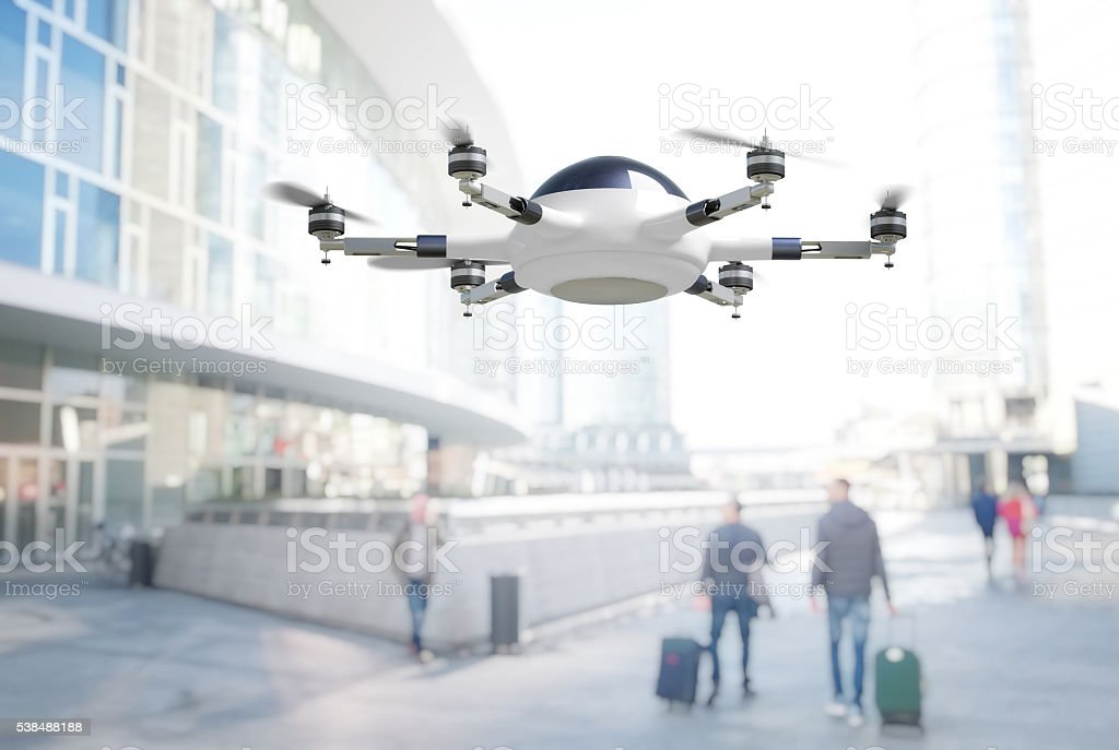 modern 3d drone stock photo
