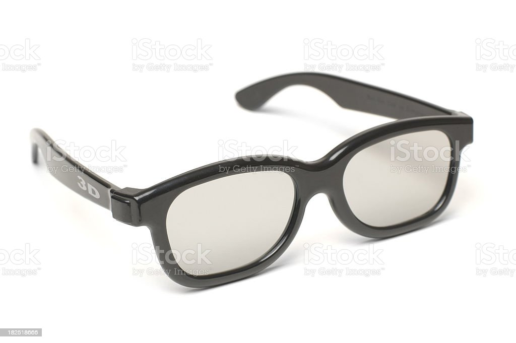 Modern 3D Glasses w/ Text royalty-free stock photo