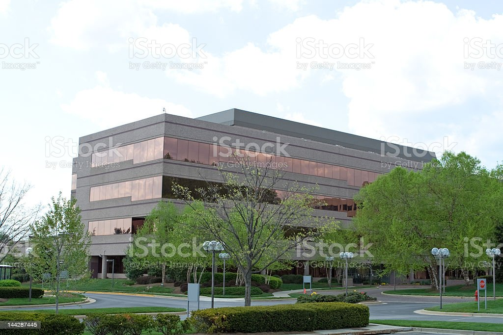 Modern 4 Story Office Building in Suburban Maryland royalty-free stock photo