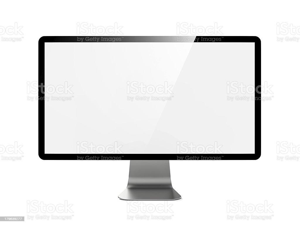 Modern 4k Widescreen Lcd Monitor. royalty-free stock photo