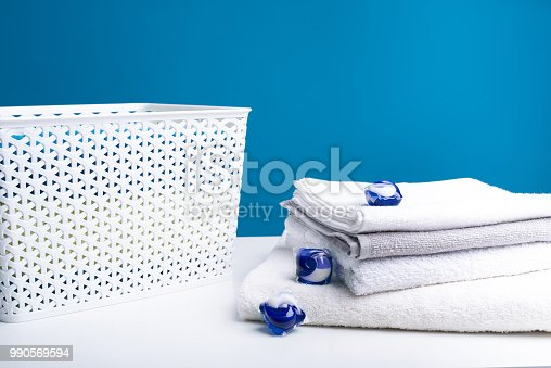 istock Modern abstergent with white linens 990569594