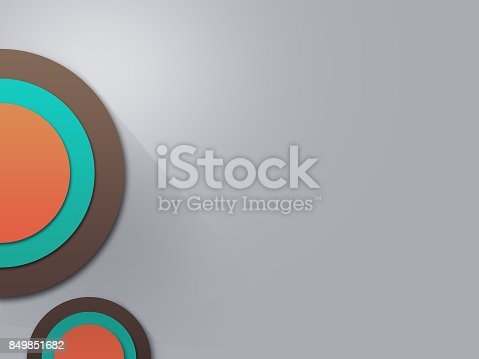 istock Modern abstract circle background for business, orange green brown 849851682