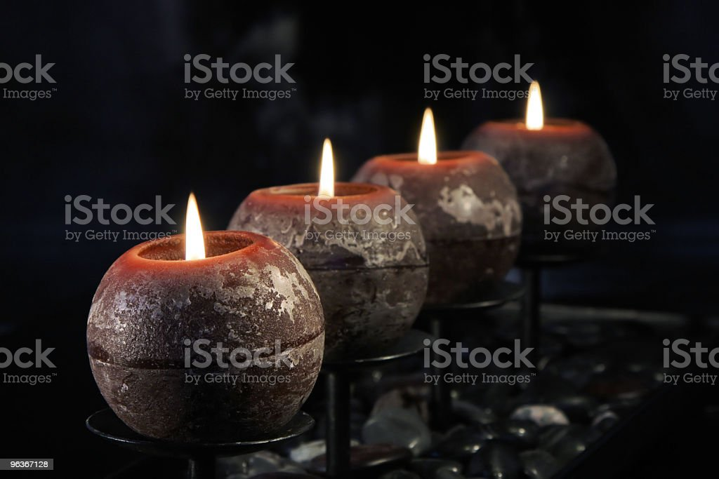 Modern Advent Candles royalty-free stock photo
