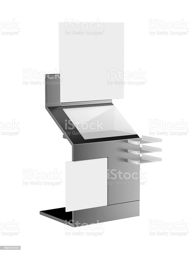 Modern advertising stand royalty-free stock photo
