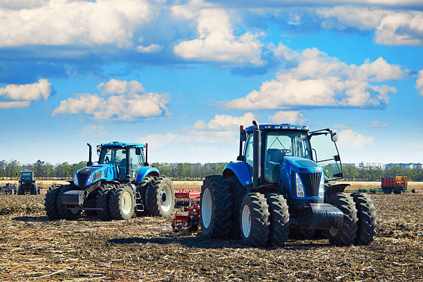 Modern agricultural machinery stock photo