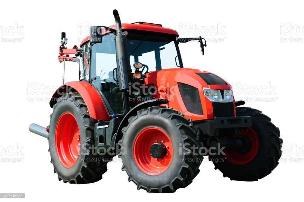 Modern agricultural tractor stock photo