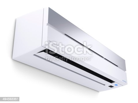 istock Modern air conditioner 3D 494563351