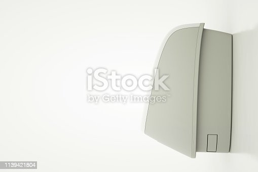 istock Modern air conditioner, side view. 3d illustration 1139421804