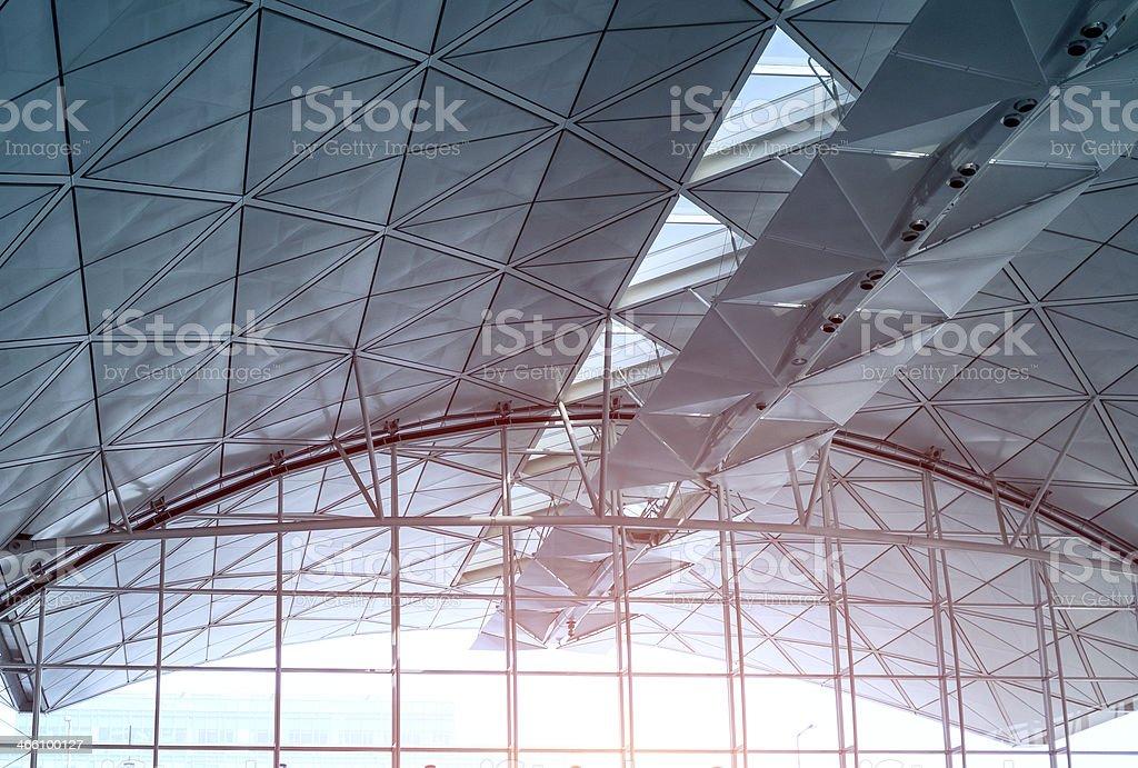 Moderno airdrome teto - foto de acervo