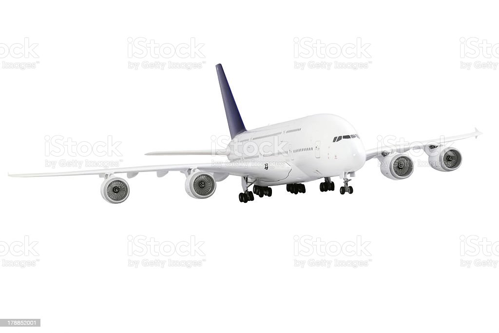 Modern airplane  on white. royalty-free stock photo