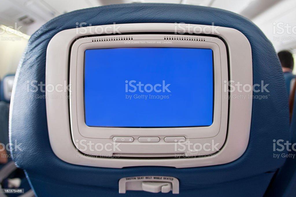 modern airplane seat stock photo