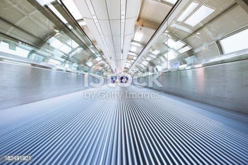 istock Modern Airport Futuristic Elevated Walkway 182491921