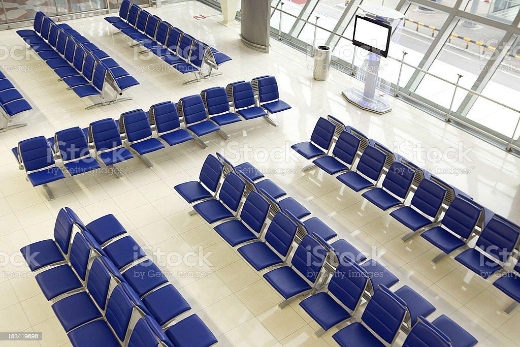 Modern Airport Lounge stock photo