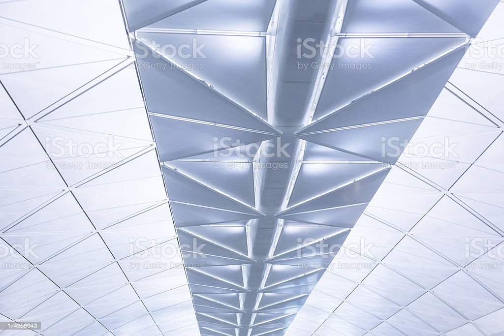 Modern Airport Roof royalty-free stock photo