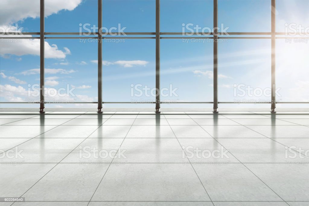 Modern airport terminal building stock photo