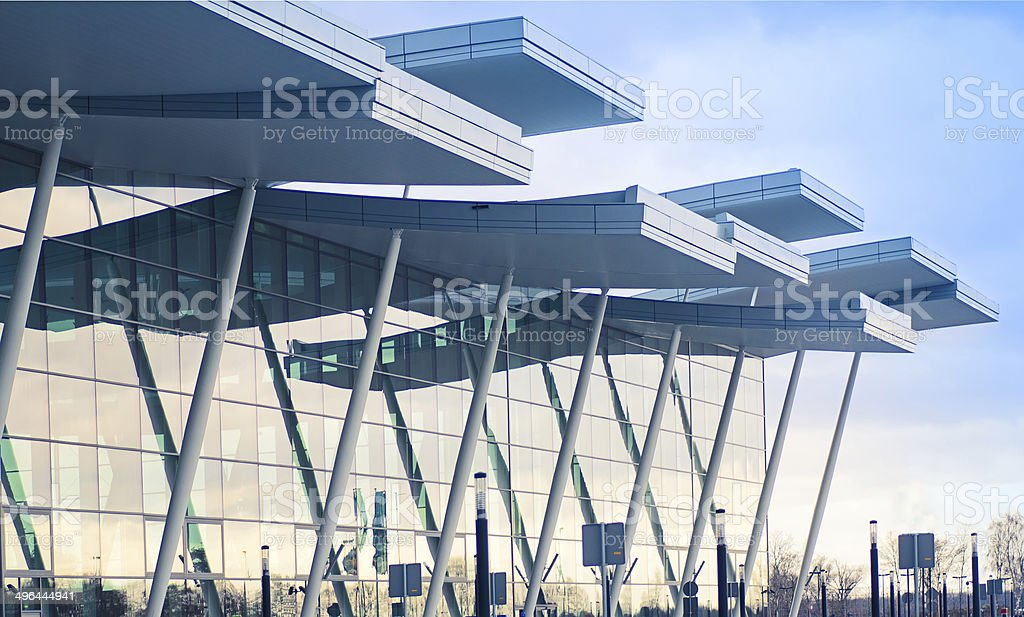 Modern airport terminal in Wroclaw,Poland stock photo