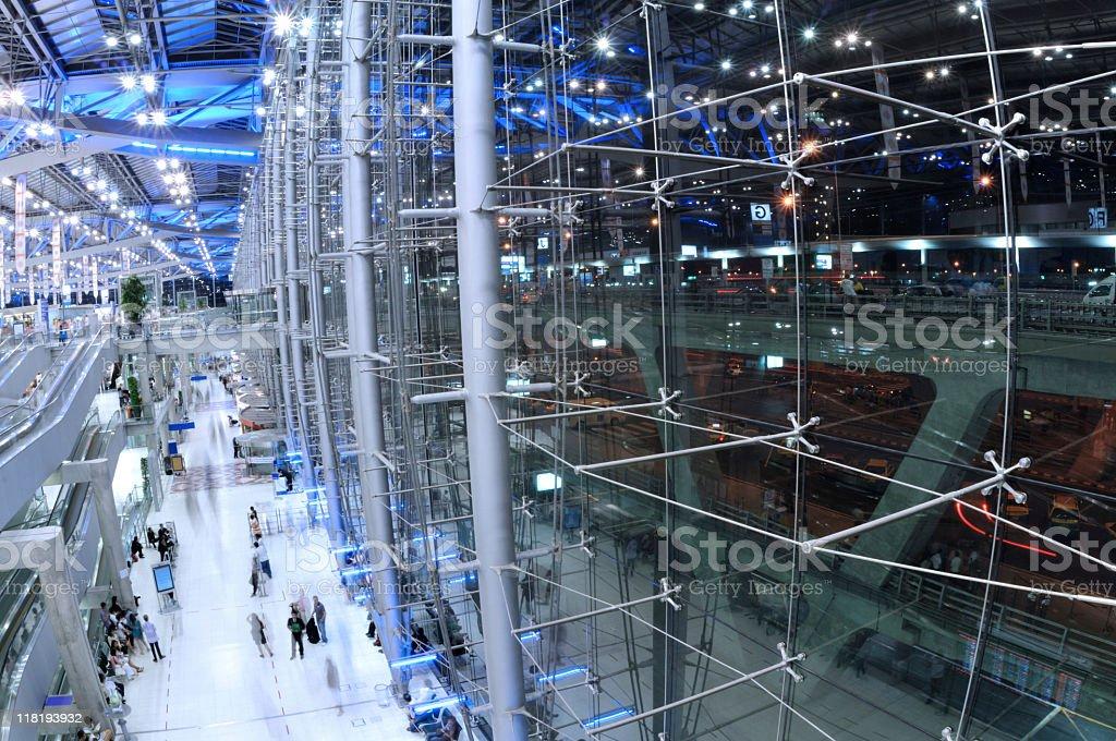Modern airport terminal royalty-free stock photo