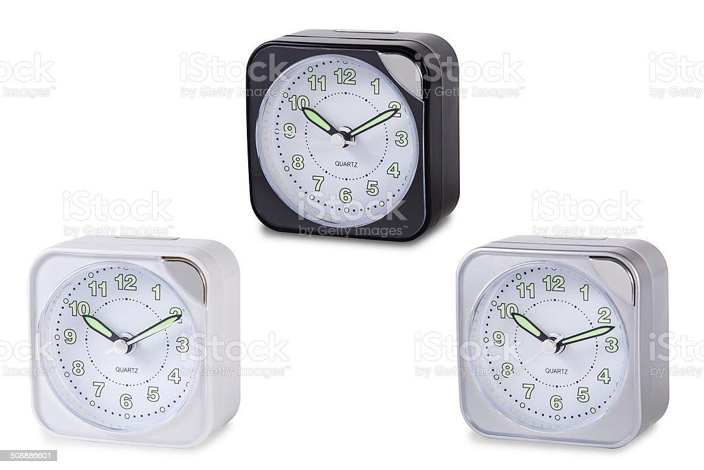 Modern Alarm Clock Multicolour Stock Photo - Download Image