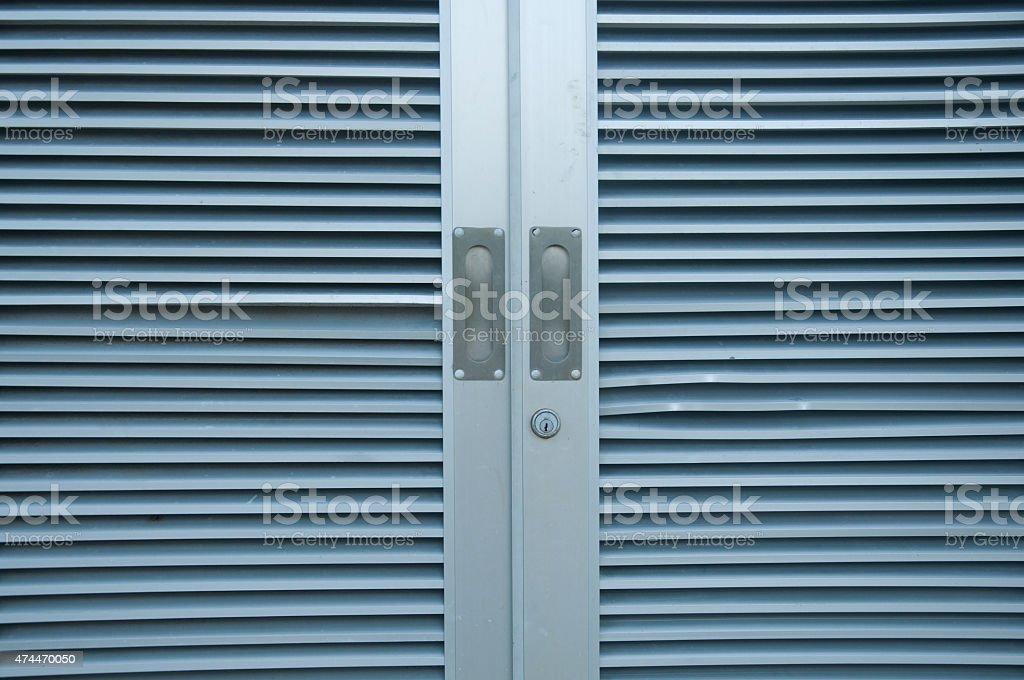 Modern aluminum window stock photo